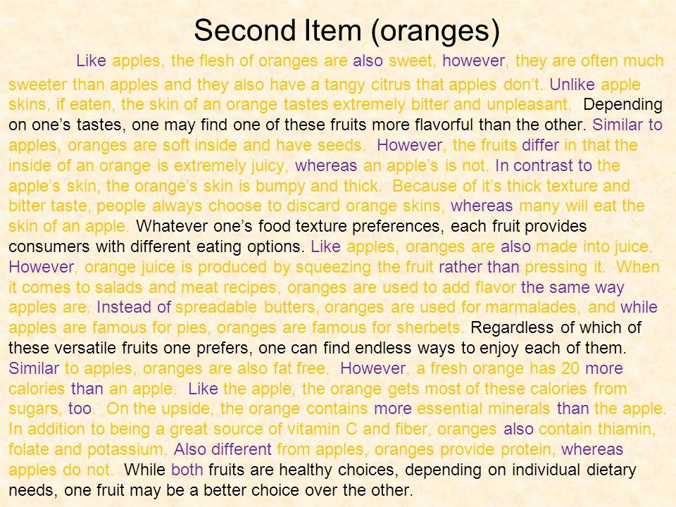 Second Item (oranges)