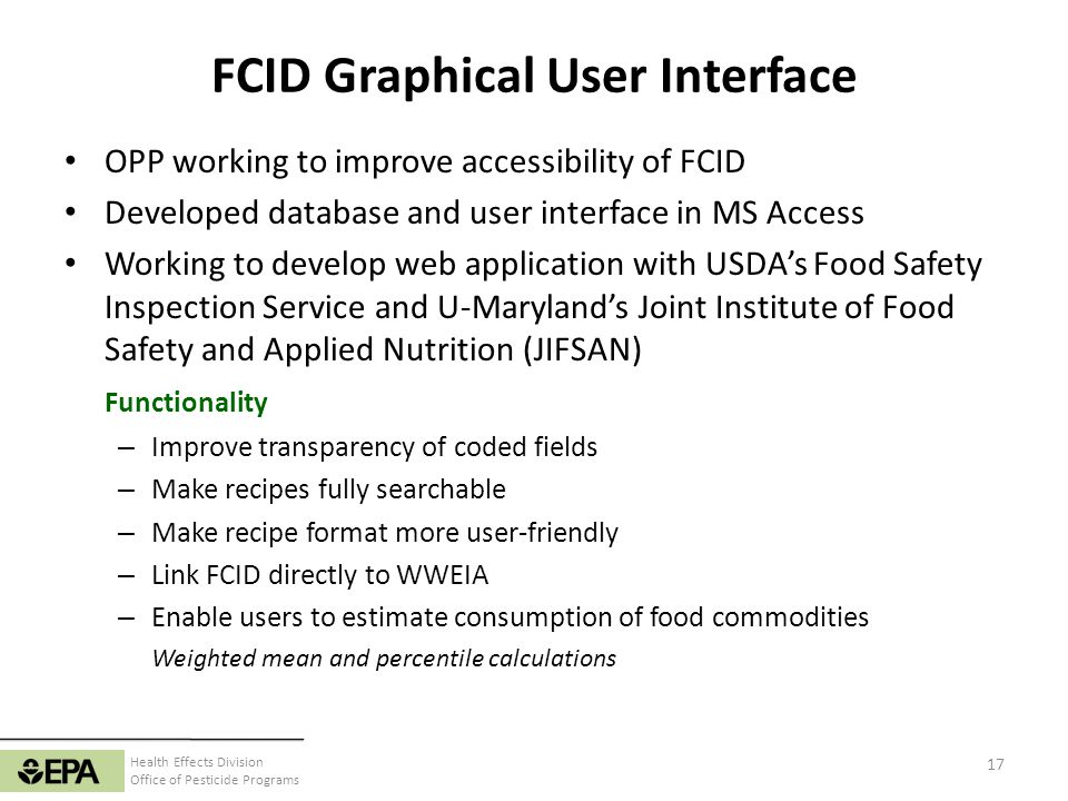 FCID Graphical User Interface