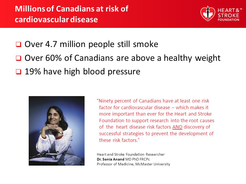 Millions of Canadians at risk of cardiovascular disease