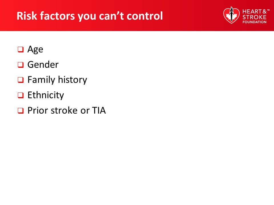 Risk factors you can't control