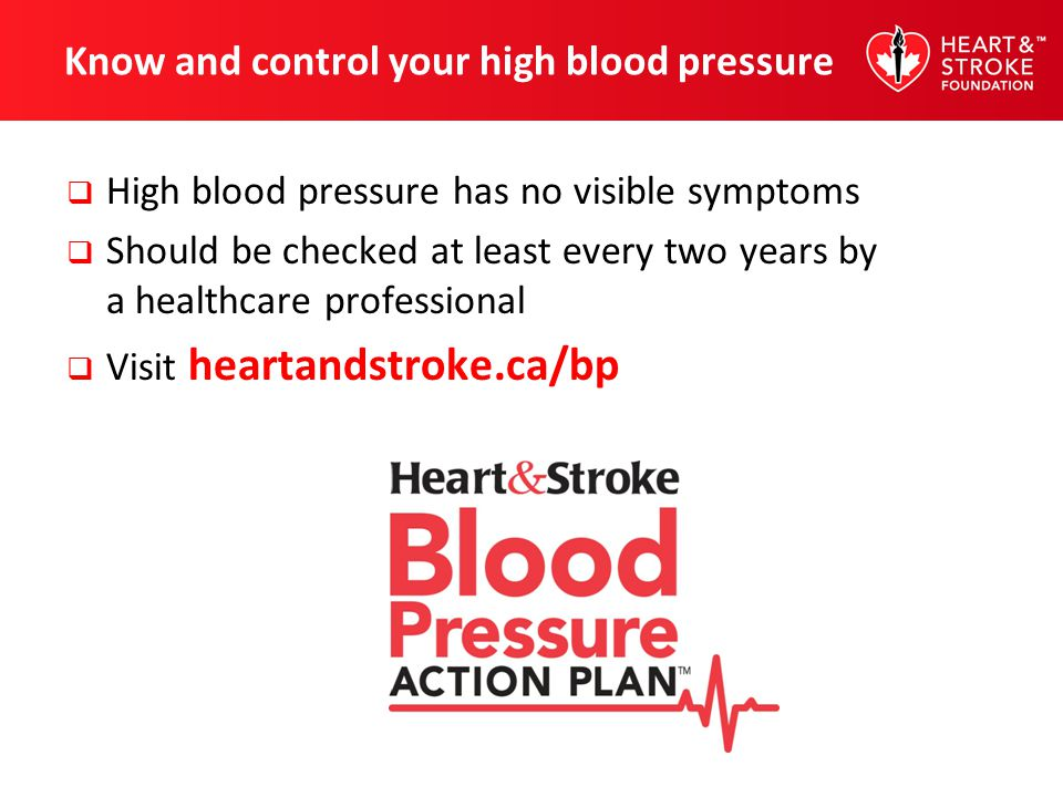Know and control your high blood pressure