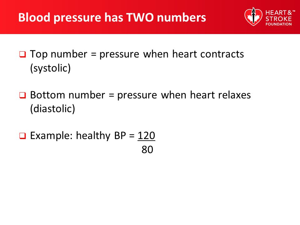 Blood pressure has TWO numbers