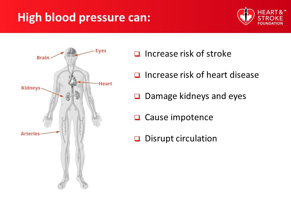 High blood pressure can: