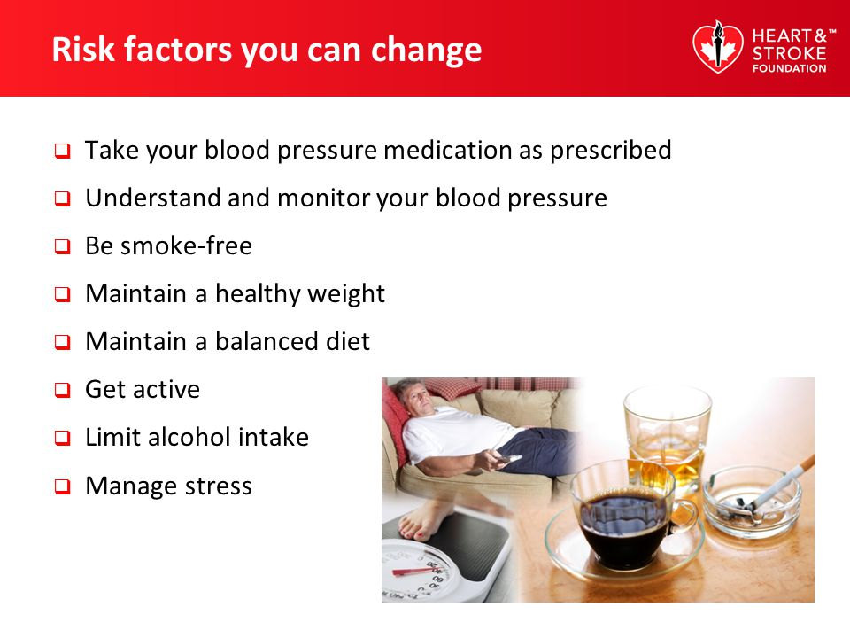 Risk factors you can change