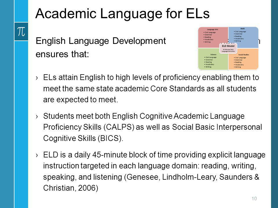 Academic Language for ELs