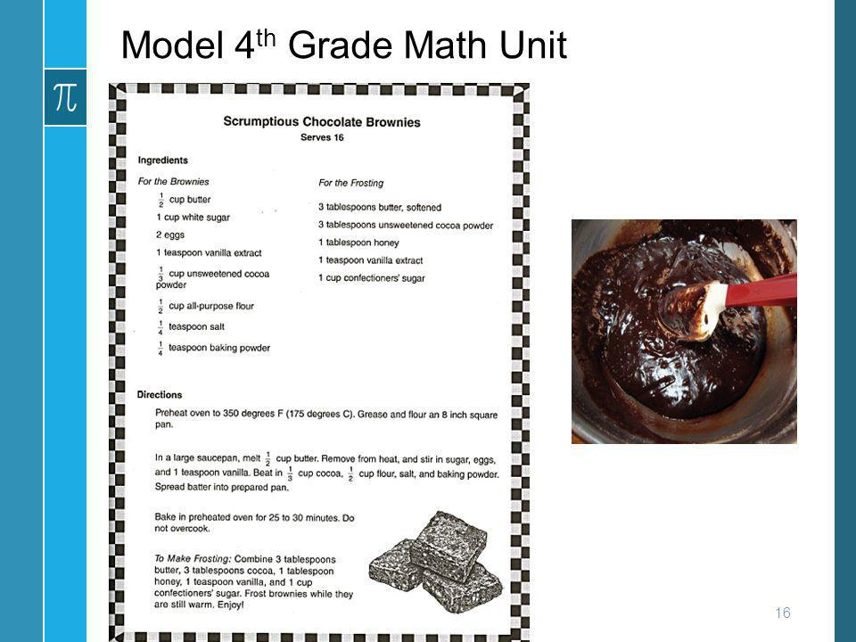 Model 4th Grade Math Unit