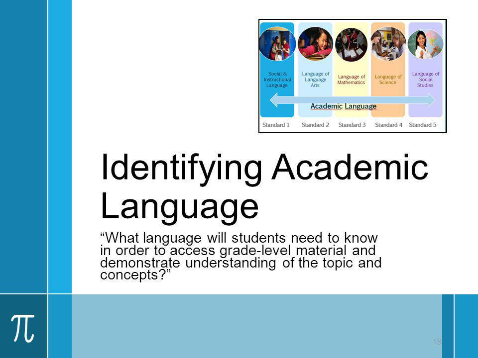 Identifying Academic Language