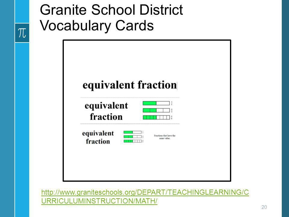 Granite School District Vocabulary Cards
