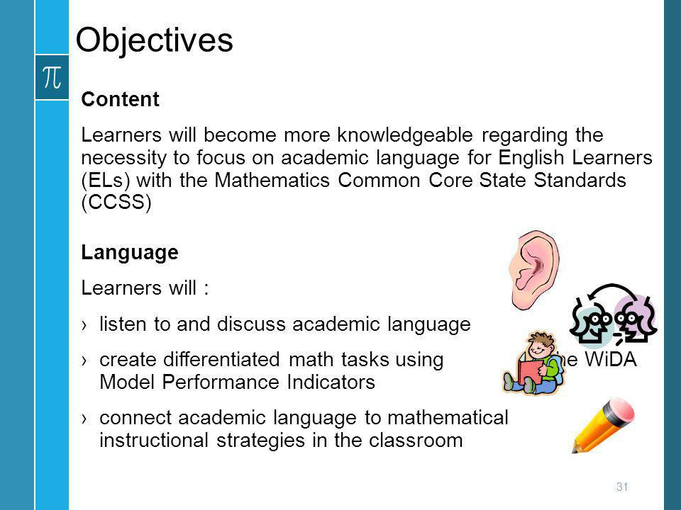 Objectives Content.