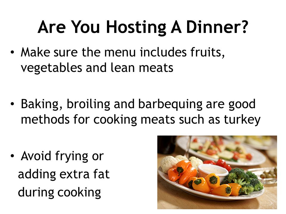 Are You Hosting A Dinner