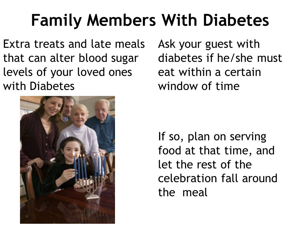 Family Members With Diabetes