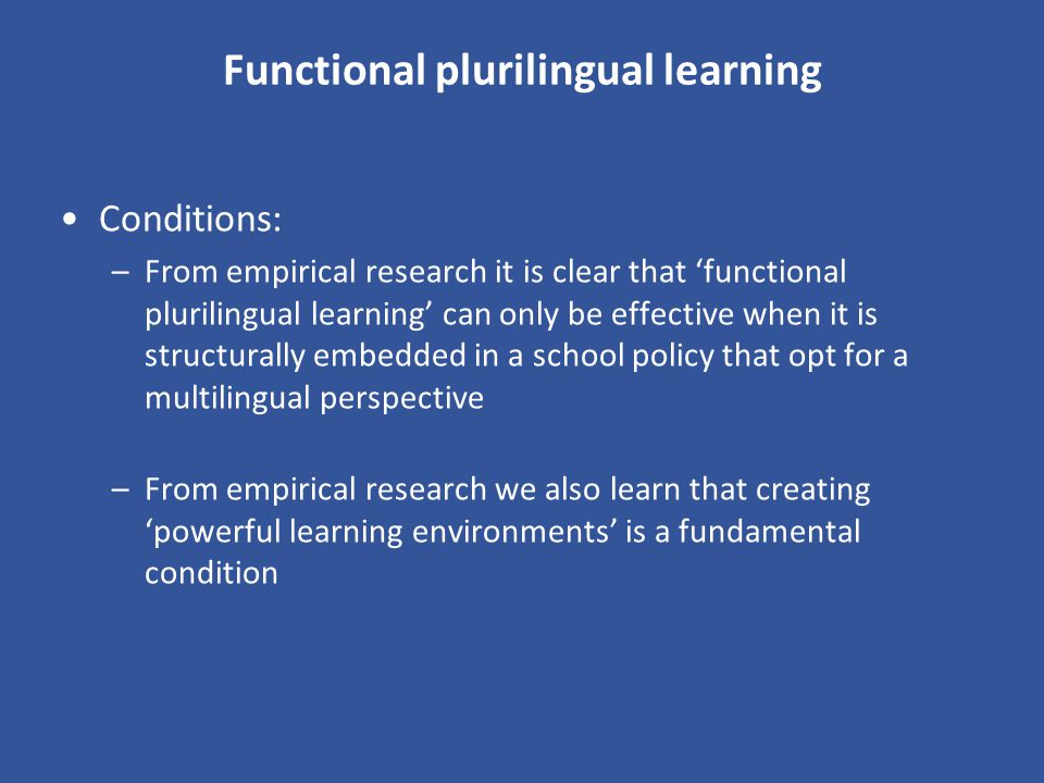 Functional plurilingual learning