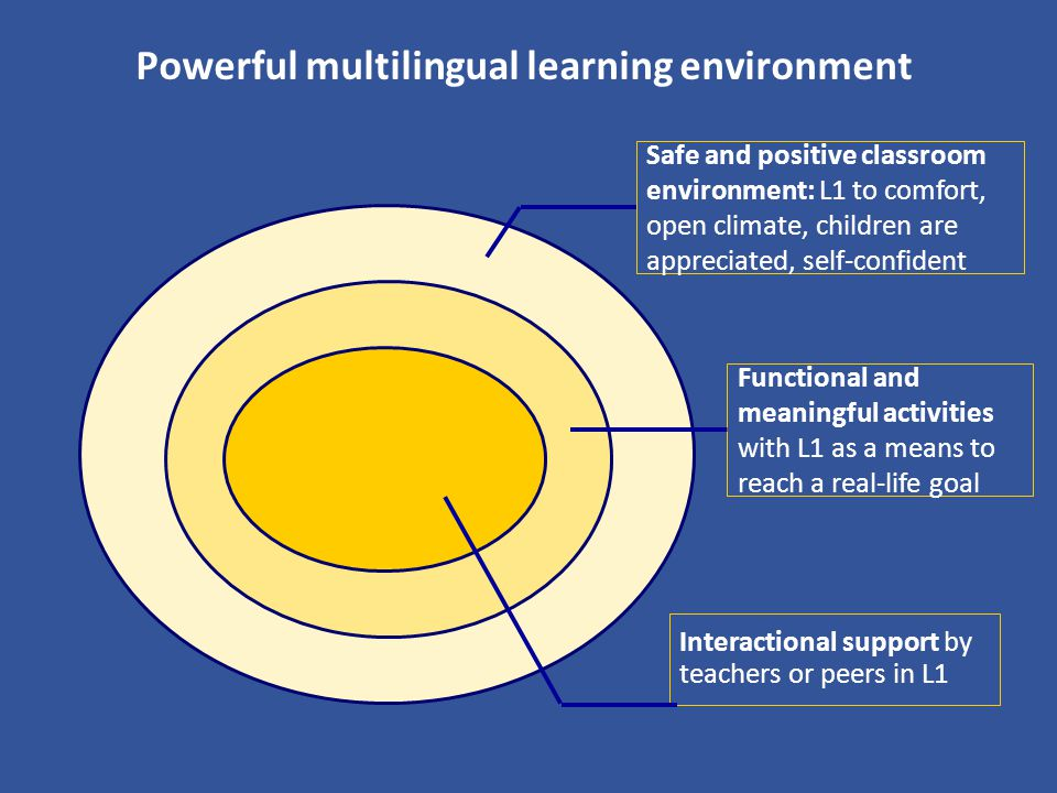 Powerful multilingual learning environment