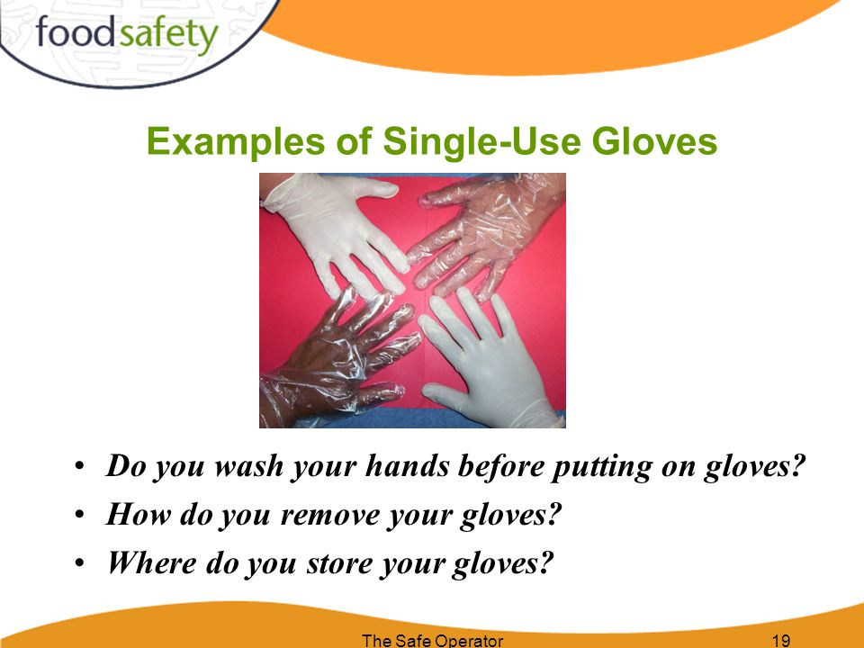 Examples of Single-Use Gloves