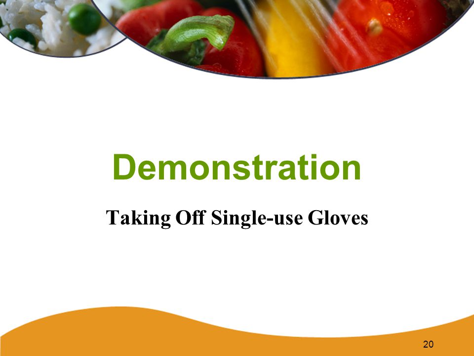 Taking Off Single-use Gloves