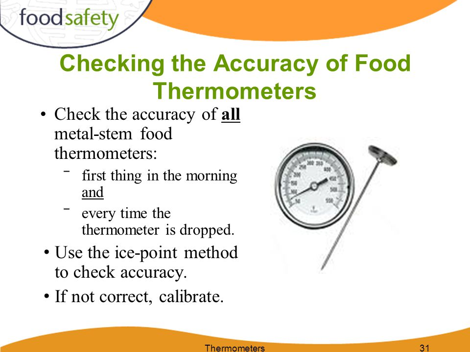 Checking the Accuracy of Food Thermometers