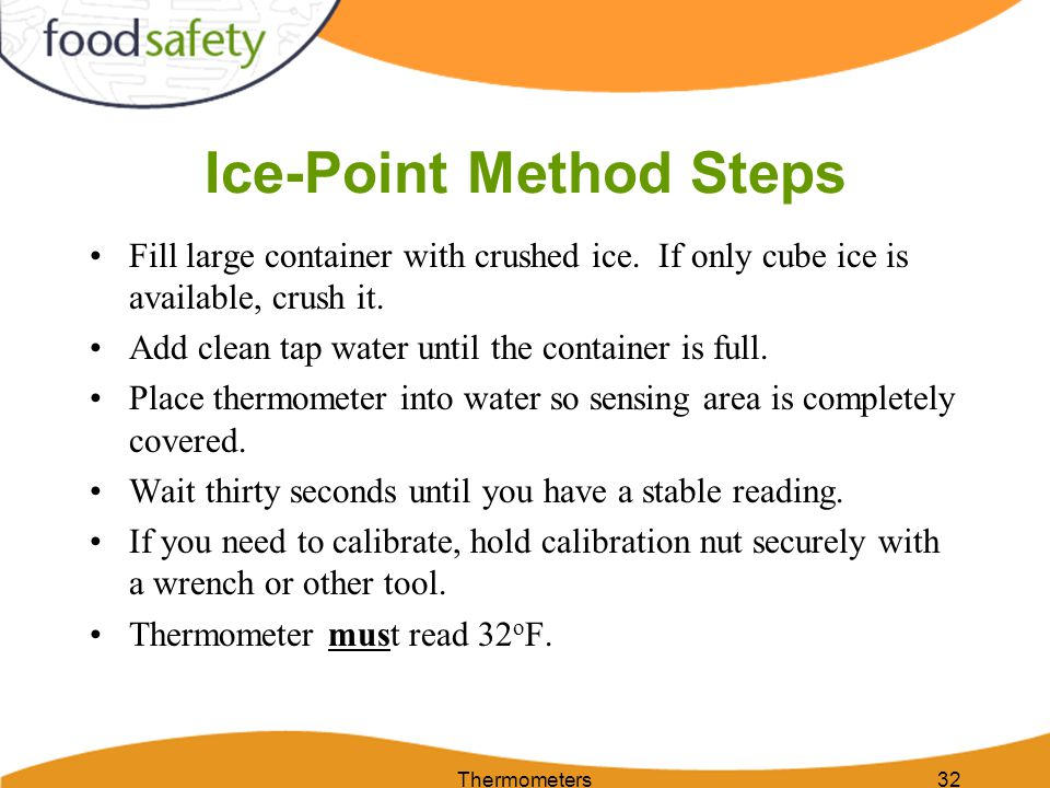 Ice-Point Method Steps