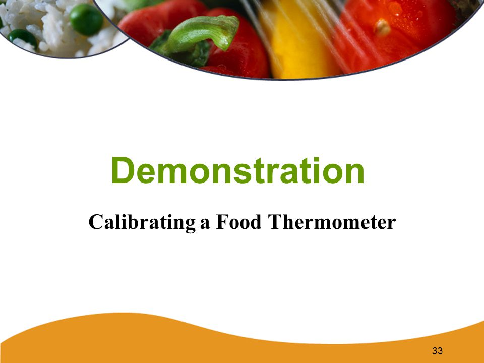 Calibrating a Food Thermometer
