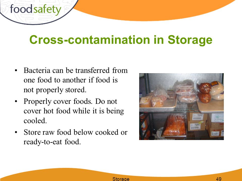 Cross-contamination in Storage