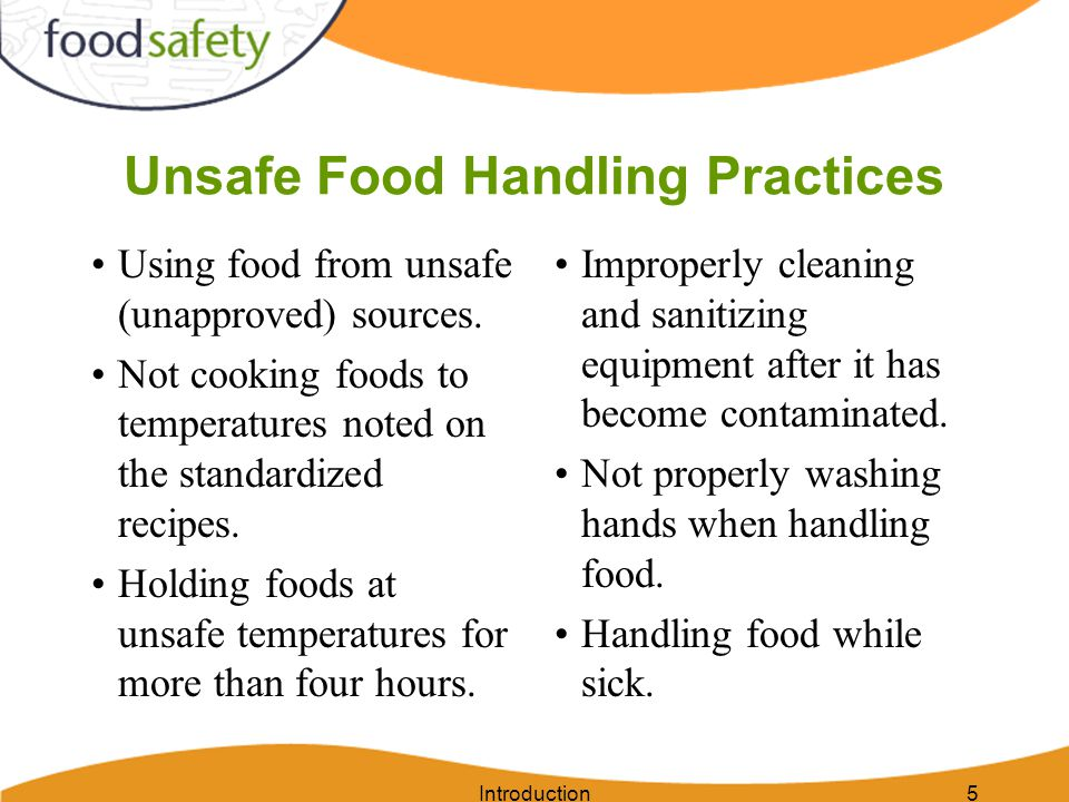 Unsafe Food Handling Practices