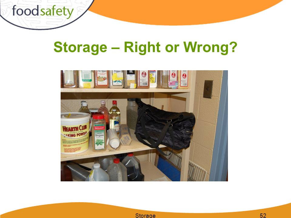 Storage – Right or Wrong
