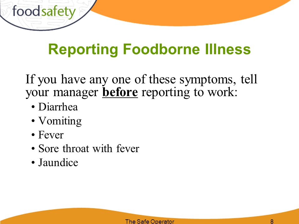 Reporting Foodborne Illness