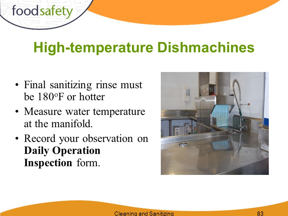 High-temperature Dishmachines