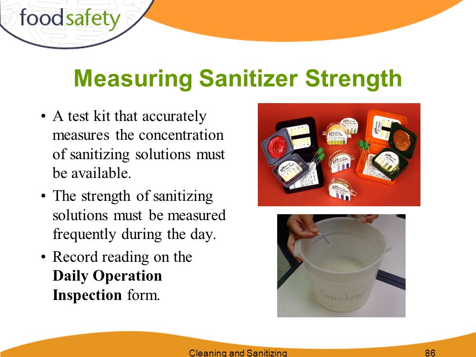 Measuring Sanitizer Strength
