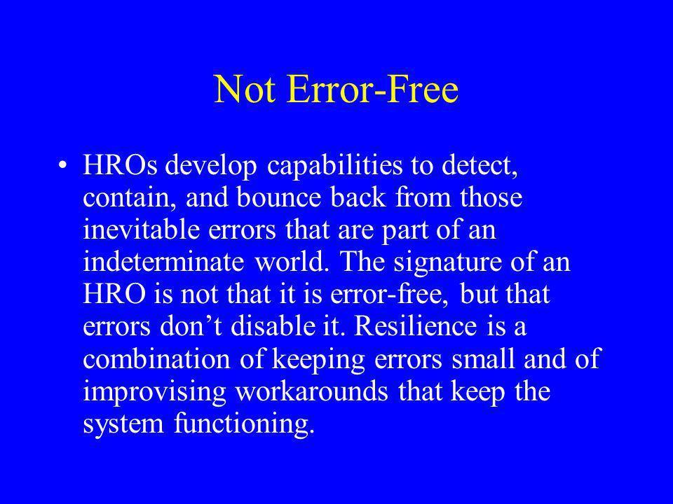 Not Error-Free
