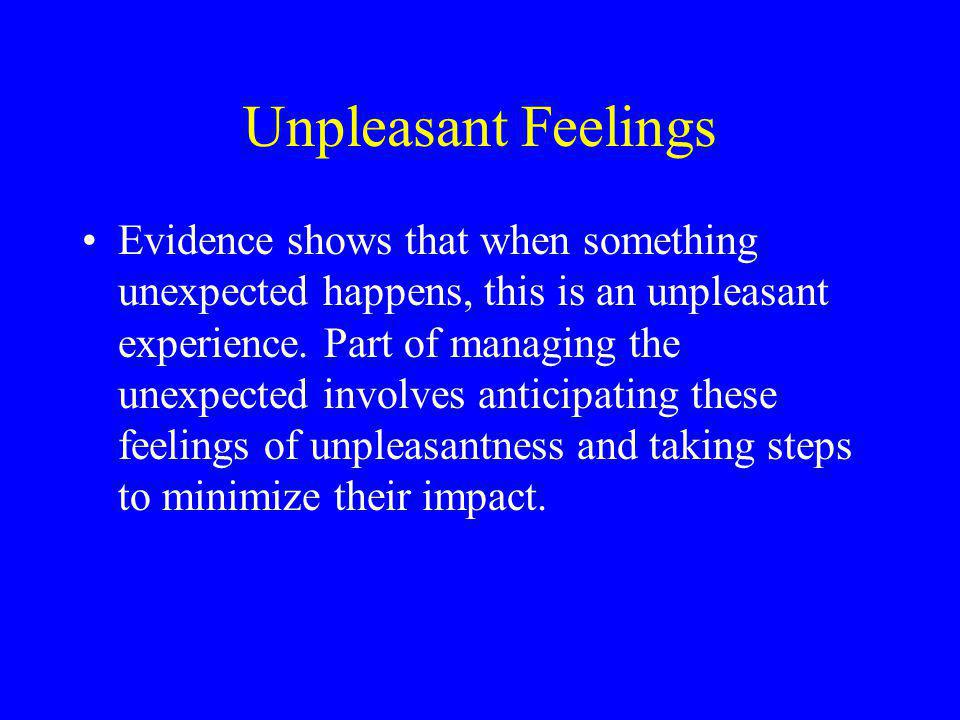 Unpleasant Feelings
