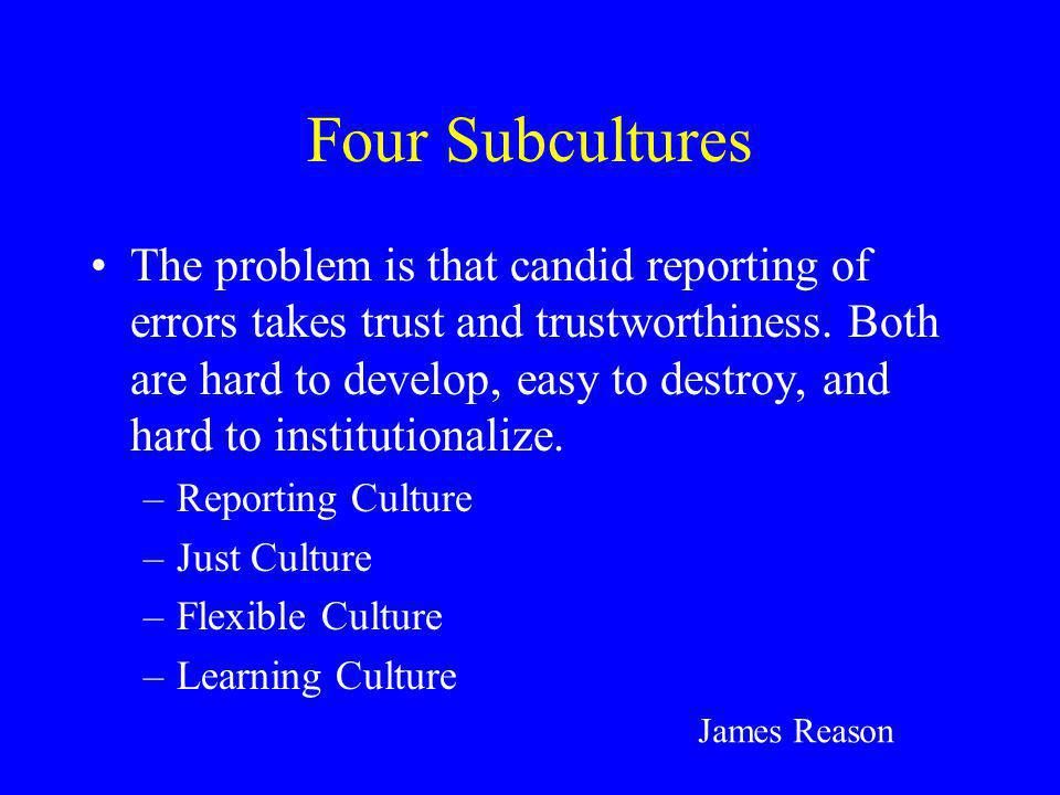 Four Subcultures