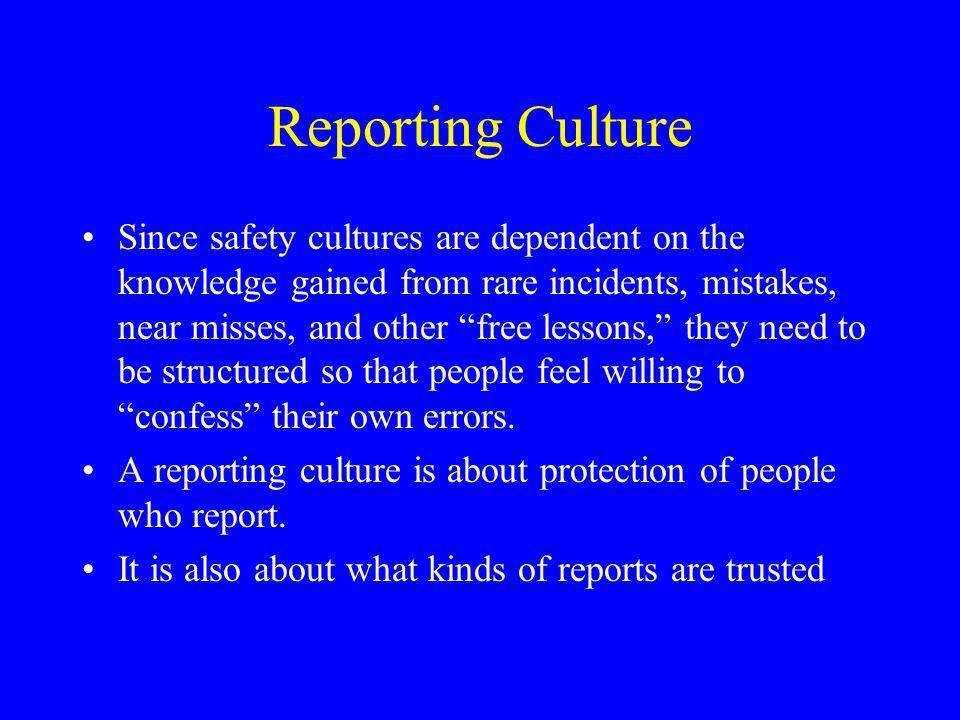 Reporting Culture