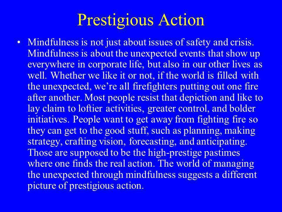 Prestigious Action