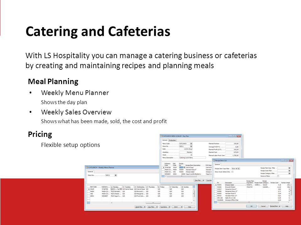 Catering and Cafeterias