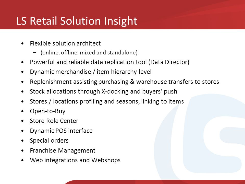 LS Retail Solution Insight