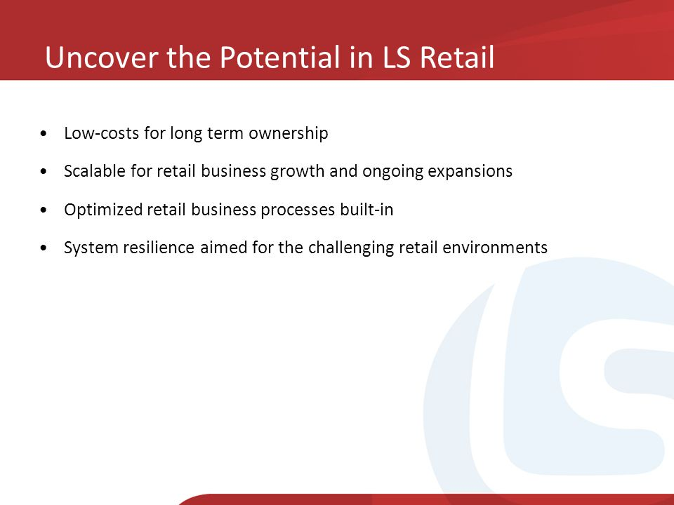 Uncover the Potential in LS Retail