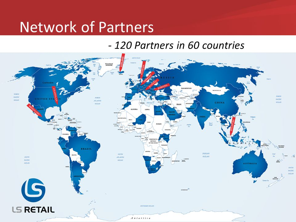 Network of Partners - 120 Partners in 60 countries