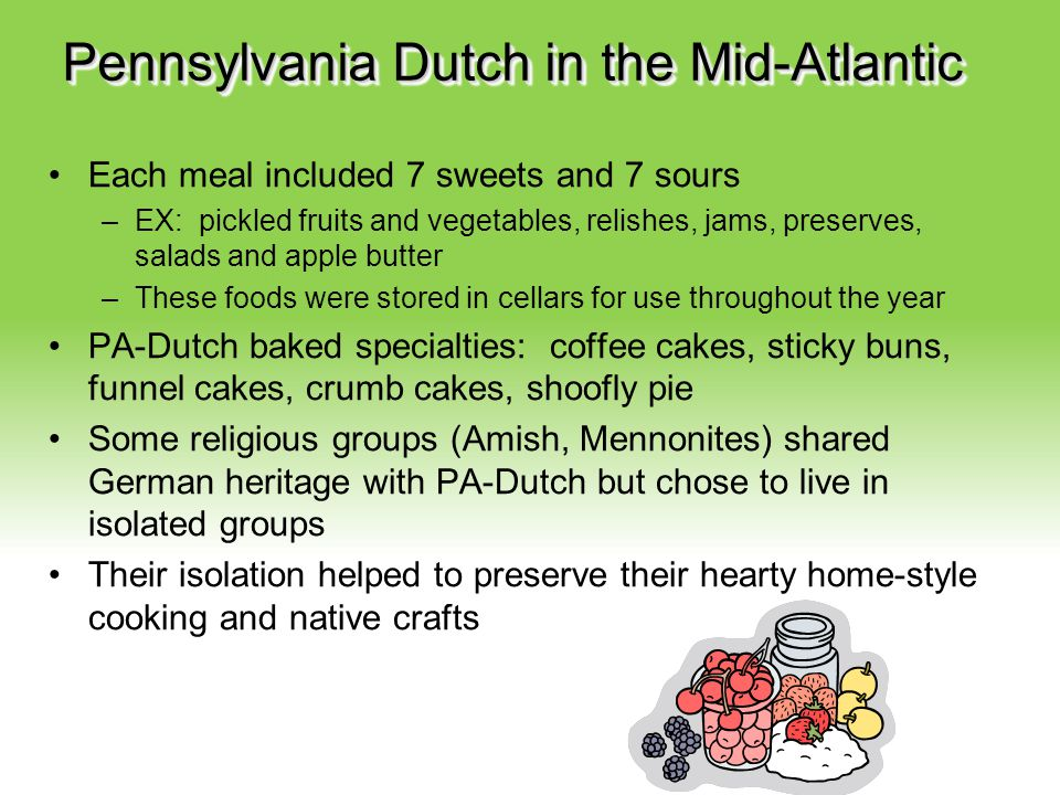 Pennsylvania Dutch in the Mid-Atlantic
