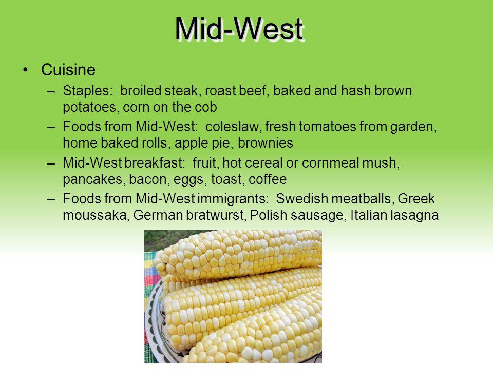 Mid-West Cuisine Your Description Goes Here