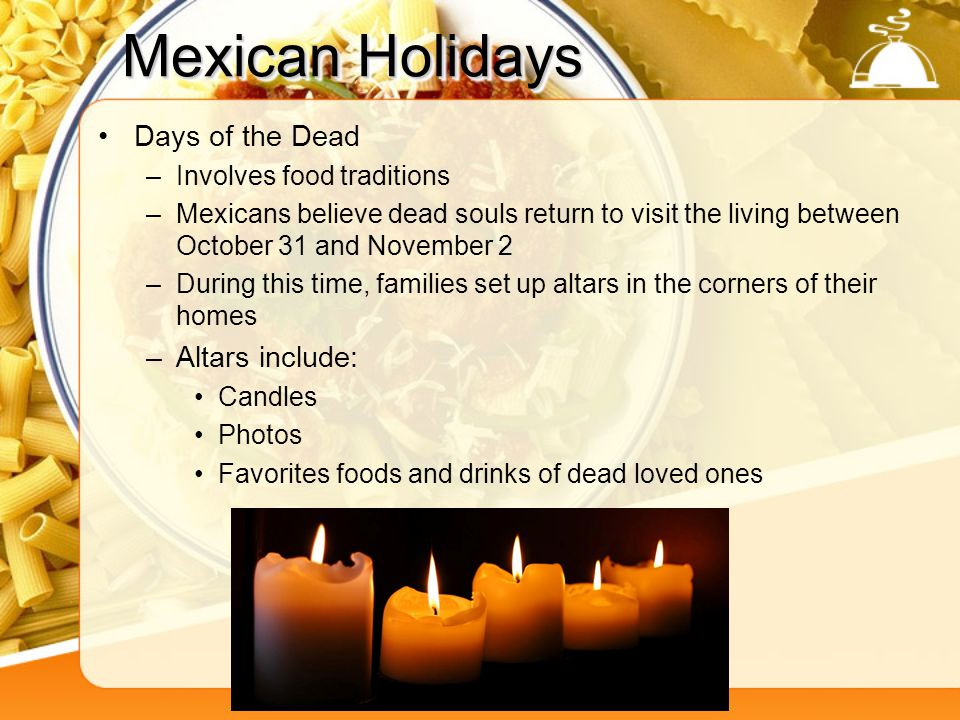 Mexican Holidays Days of the Dead Altars include: