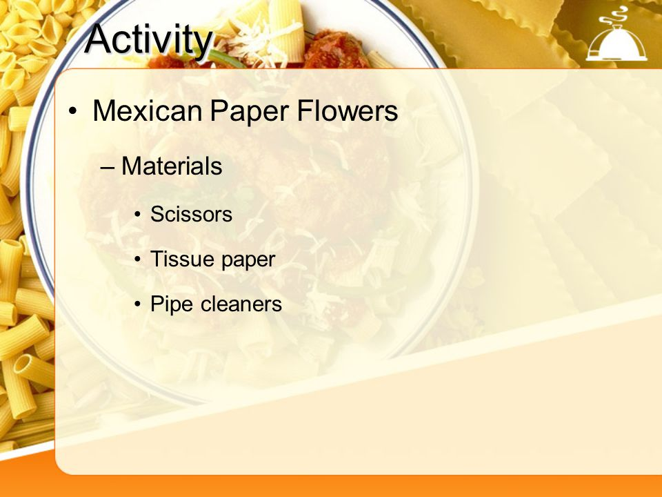 Activity Mexican Paper Flowers Materials Scissors Tissue paper