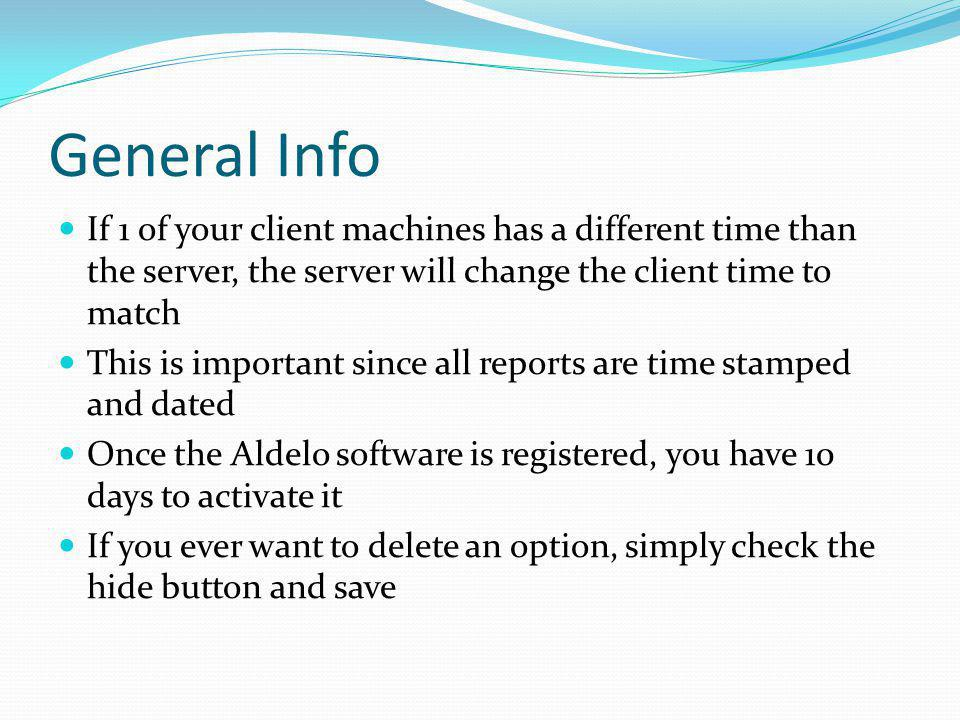 General Info If 1 of your client machines has a different time than the server, the server will change the client time to match.
