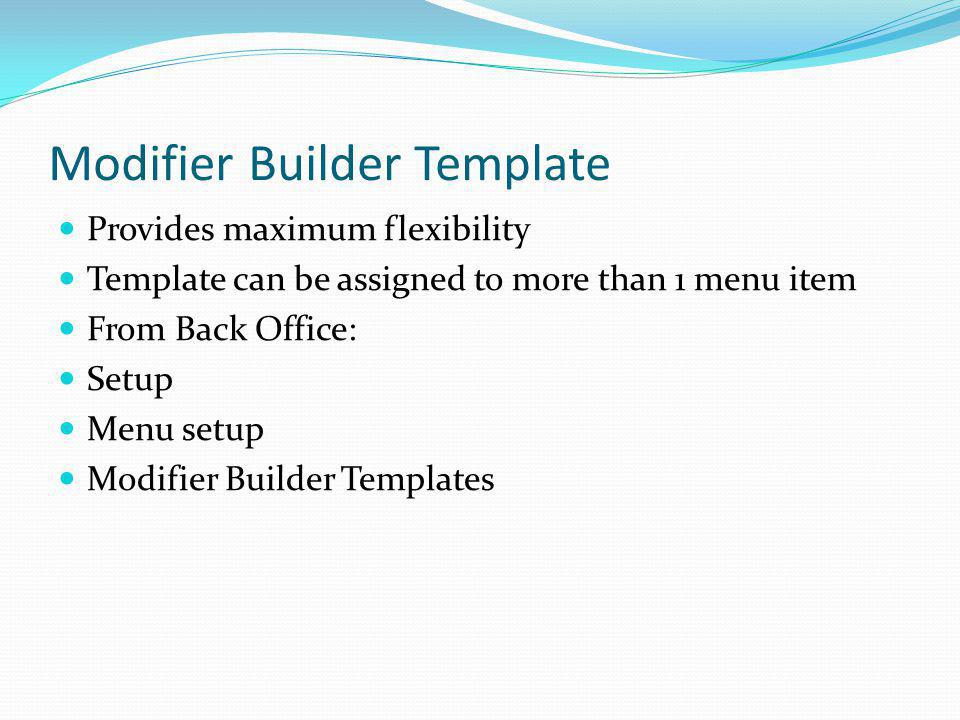 Modifier Builder Template