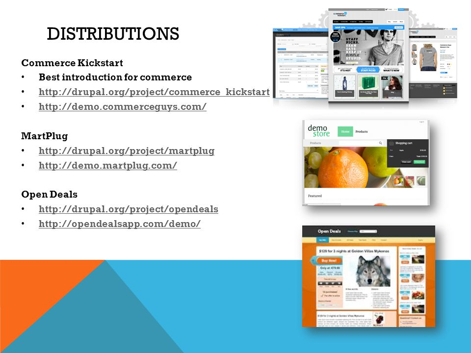 Distributions Commerce Kickstart Best introduction for commerce