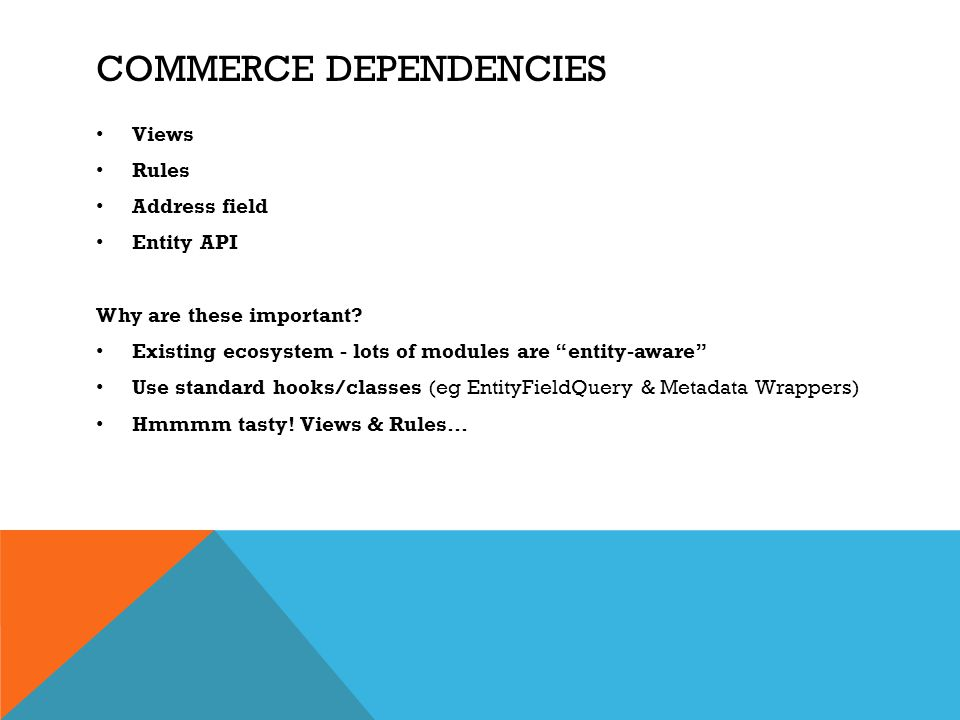 commerce dependencies