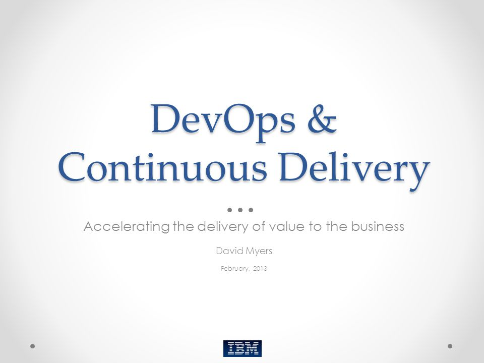DevOps & Continuous Delivery