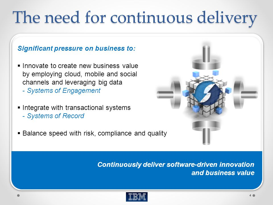 The need for continuous delivery