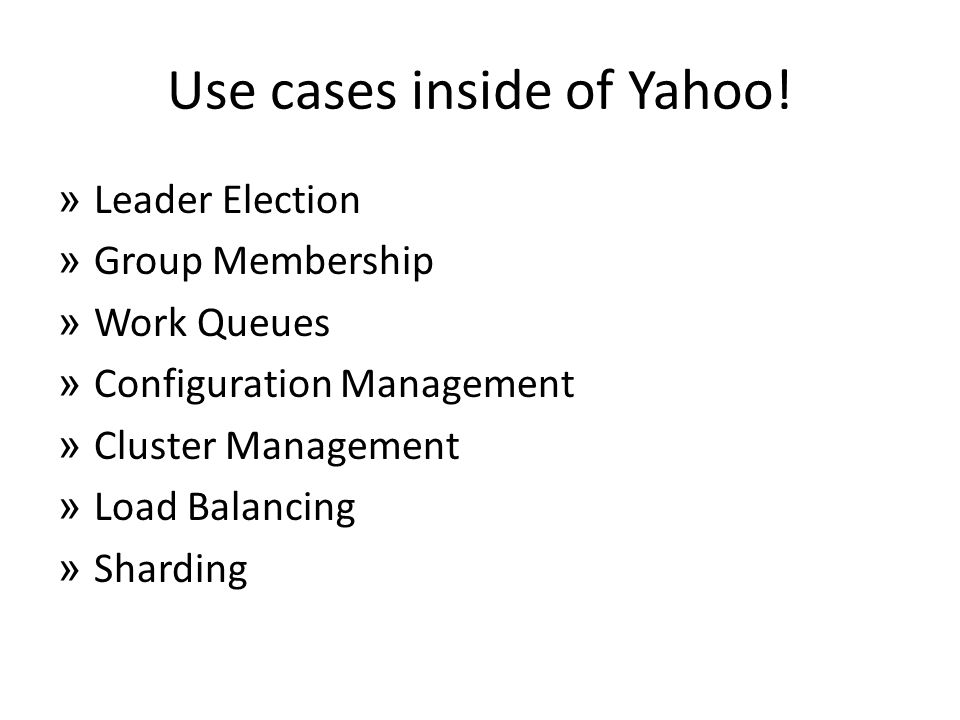 Use cases inside of Yahoo!