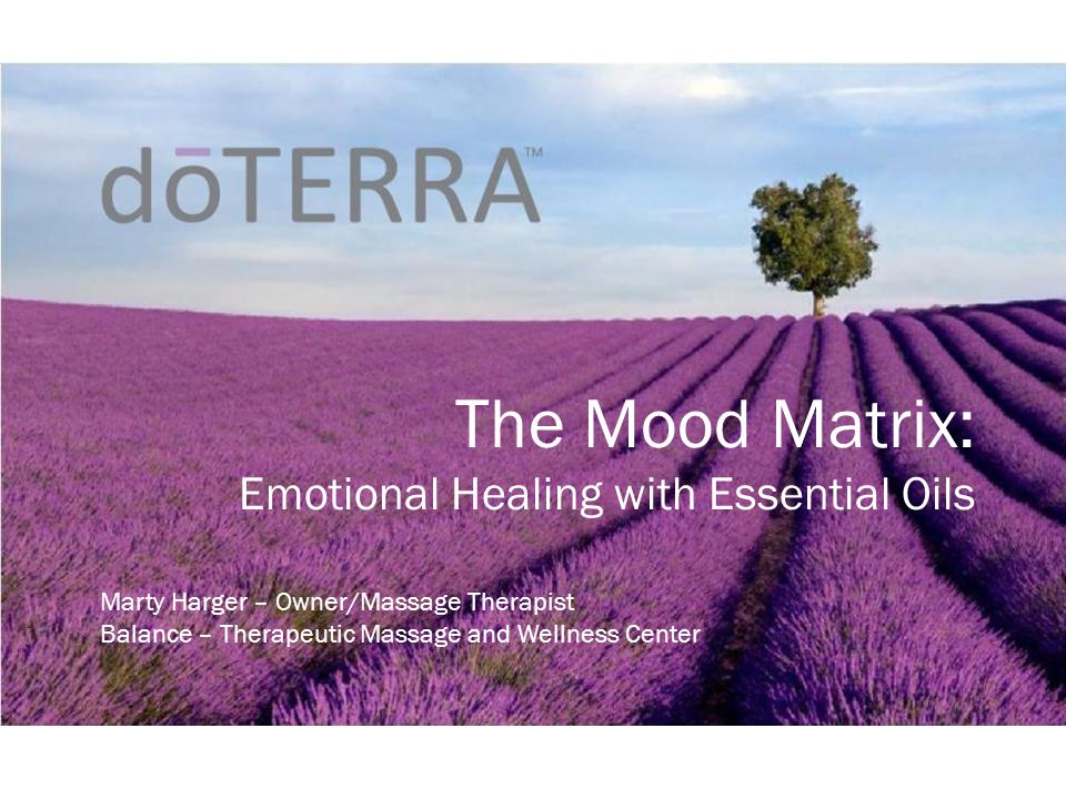 The Mood Matrix Emotional Healing With Essential Oils Ppt Video