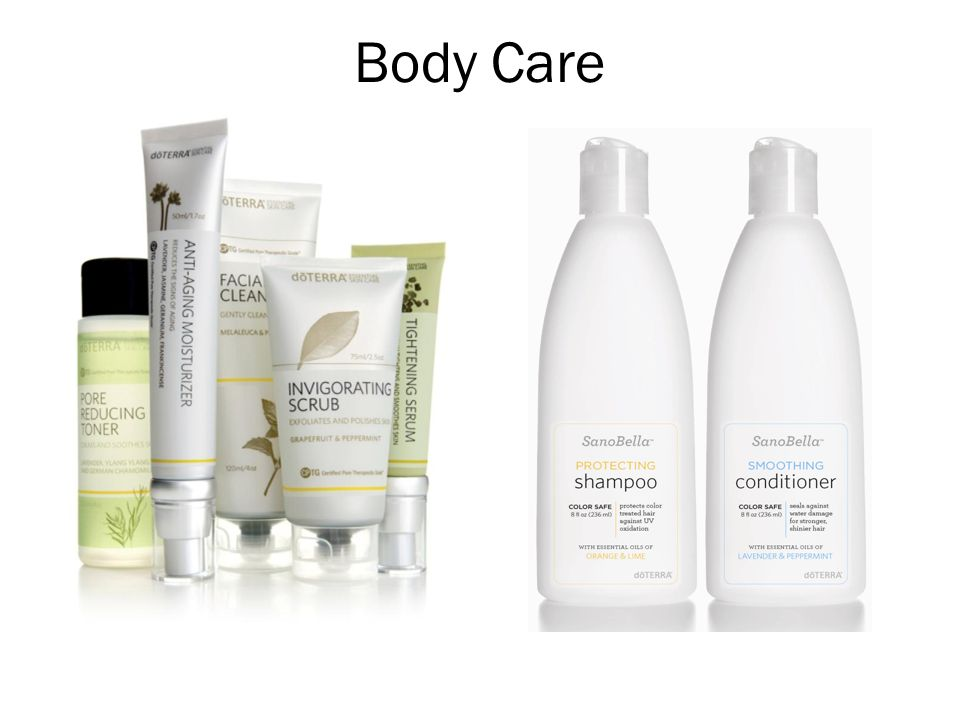 Body Care And final personal care and skin care products.